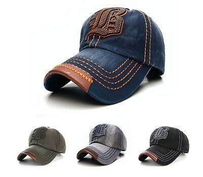 NEW Casual BASEBALL CAP JB HAT SNAP BACK Size Adjustable Strap Unisex Mens Women