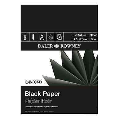 DALER ROWNEY CANFORD BLACK PAPER PAD - A4 (150gsm)