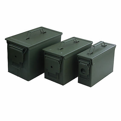 Magnum 3pc Metal Ammo Cans Box for 30 and 50 Cal Ammunition Storage  53540