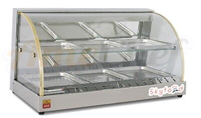 "New 33"" Hot Food Warmer Display Merchandiser Double Shelf SKYFOOD FWD2-33"