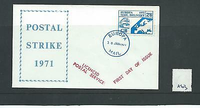 Cinderella - Gb Strike Mail - Sm-A63 - Cover - Europa Mail