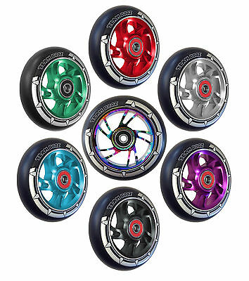 Team Dogz Pro 100mm Alloy Core Stunt Scooter Wheel Abec 11 Bearings Spacers inc