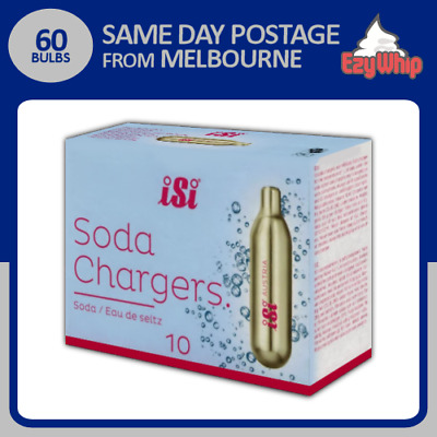 Isi Soda Chargers 10 Pack X 6 (60 Bulbs) Co2 Carbon Dioxide Syphon