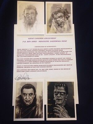 Don Post Studios Original Black and White Photos from 1966 Calendar Masks W/COA