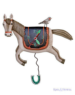 "Gorgeous ""Whoah Horsey"" Designer Wall Clock by Allen Designs"