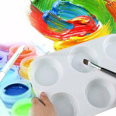 6 Well Plastic Painting Watercolour Paint Palettes Mixing Tray For Artists Kids
