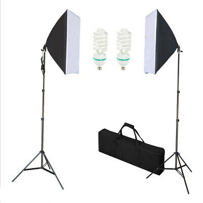 Photography Studio 2X135W SoftBox Continuous Lighting Kit With 2 light stands U