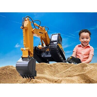 RC Excavator Toy Kids Metal Truck Tractor Digger Vehicle Battery Remote Control