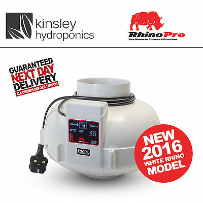 THE WHITE RHINO - Fan Filter Extractor Hydroponics.