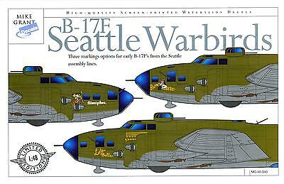 Mike Grant Decals 1/48 BOEING B-17F FLYING FORTRESS SEATTLE WARBIRDS