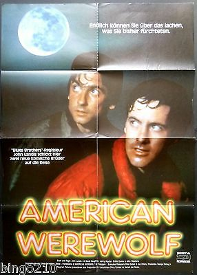 An American Werewolf In London Original 1981 German Poster John Landis Horror