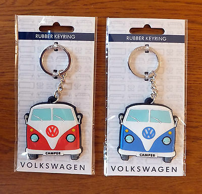 Officially Licensed Volkswagen Campervan Keyring/Fob red or blue collectable