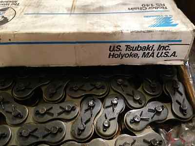 U.S Tsubaki 140 Roller chain, Box of 10 feet. Dual Cotter Pin style. USA MADE