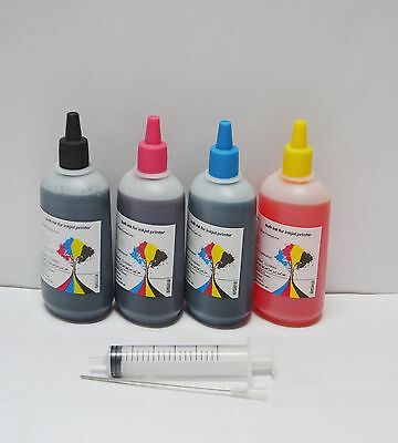 Bulk universal refill ink for Epson HP Canon Brother Lexmark printer, 4 x 100ml