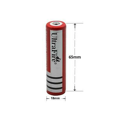 2 ULTRAFIRE BRC 18650 3.7V Rechargeable Lithium Battery Li-ion