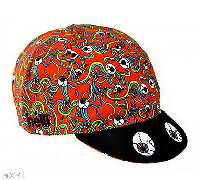 "Cinelli ""Red Cyclops"" Cotton Bike Cycling Cap Italian Made Retro Fixie Track"