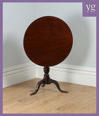 Antique Georgian English Red Walnut Tilt Top Tripod Occasional Side Dining Table