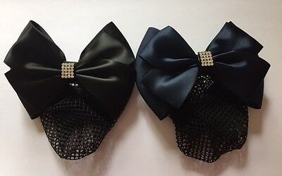 Equetech Crystal Dressage Bow & Net BLACK or NAVY + Worldwide Shipping