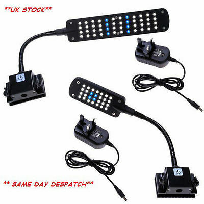 Aquarium Fish Tank Flexible Touch LED Clip Light Lamp White/Blue/Blue+White