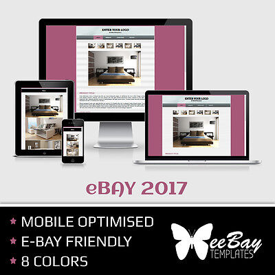 RESPONSIVE eBay Listing Template DYNAMIC PHOTO SLIDER Professional HTML 2017 *3R