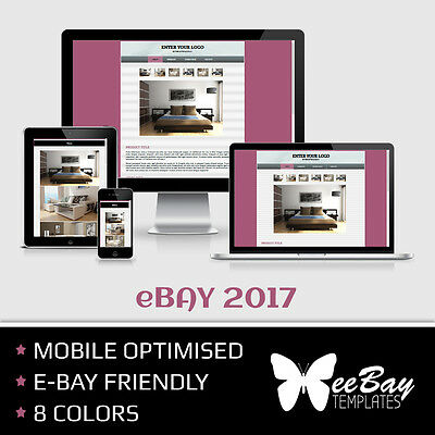 eBay Listing Template HTML Professional Mobile Responsive New Design 2017 *3R