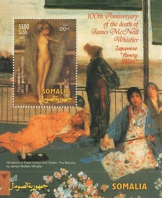 100th ANNIVERSARY OF DEATH OF PAINTER JAMES McNEILL WHISTLER MNH STAMP SHEETLET