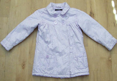 Gorgeous Girls Lilac Coat With Purple Flowers. Age 4-5.