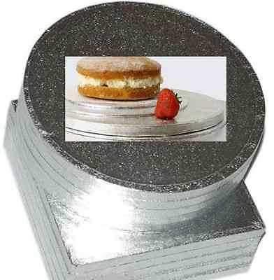 Pack Of 5 Bulk Culpitt Cake Boards Round Or Square Silver Drum Board 3Mm Thick
