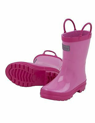 NEW Hatley Pink and Berry Classic Rainboots Wellingtons Wellies AW16