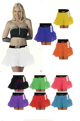 Crazy Chick Ladies 2 Layer Neon Tutu Skirt Fancy Dress Hen Party Skirts Uk 8-20