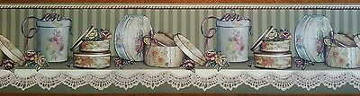 Imperial Wallcovering Decorative Gift Boxes On Shelf Wallpaper Border