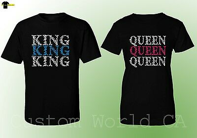Couple Matching Love T-Shirts - NEW King & Queen - His and Hers Matching Tees