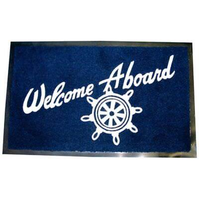 Welcome Aboard Boating Floor Mat Great Gift Idea for Boater Boat Dock & Marina