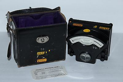 Antique Weston Model 1 Direct Current Milliammeter Multimeter 1950 Range 50-100