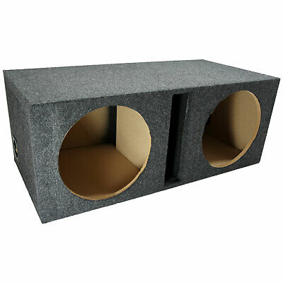 Dual 12 Inch Car Audio Vented Sub Box Ported Stereo Subwoofer Speaker Enclosure