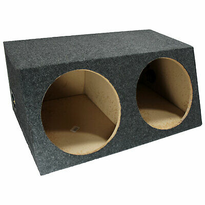 Dual 12 Inch Car Audio Sealed Sub Woofer Enclosure Stereo Bass Sub Boxes