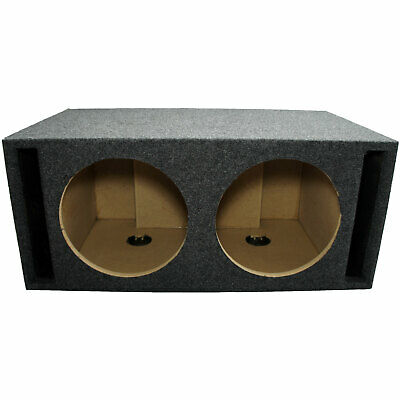 Car Audio Dual 12 Inch Slot Vented Subwoofer Labyrinth SPL Bass Speaker Sub Box
