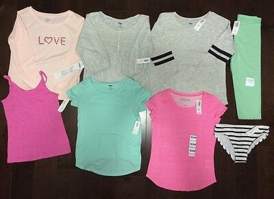NWT Old Navy And Gap Girls Summer Clothing Lot 8 Pieces Size Small 6-7