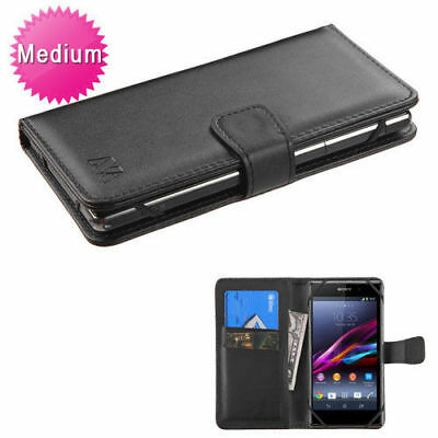 """Universal Smartphone Cover Folio Leather Flip Case Wallet Pouch Size 4.7"""" - 5.2"""""""