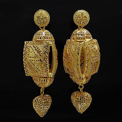 Bollywood Indian Ethnic Goldplated Party Bridal Earrings Set Designer Jewelry