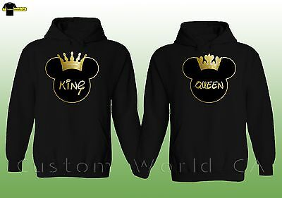 Couple Hoodie - NEW Design King & Queen His and Hers Couple Matching Sweatshirts