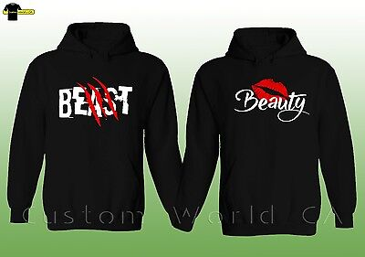 Couple Hoodie - Beast And Beauty His and Hers New Design Couple Matching Hoodie