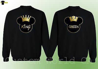 Couple Crewneck - King & Queen His and Hers New Design Couple Matching Sweater