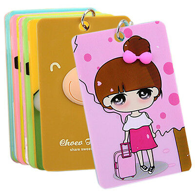 Likesome PVC Credit Card Holder Keyring Key Chain Sleeve Set Bus Card Case Bag