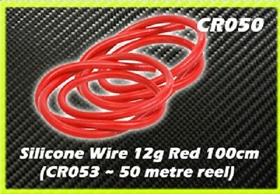 CORE RC Silicone Wire 12g - Red 1 Metre CR050