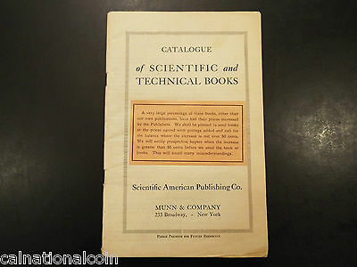 1918 Catalogue of Scientific and Technical Books