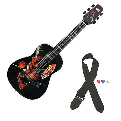 Peavey 1/2 Size Student Acoustic Marvel Spiderman First Beginner Guitar New