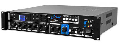 Pyle Home PT930U Amplifier With Fm Tuner & Individual Amp Channel Protection New