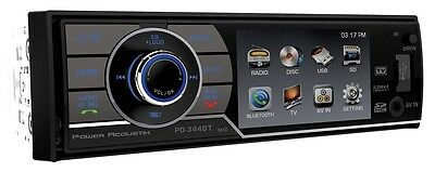 """Power Acoustik PD-344B 1-Din A/V Source Unit W/ Bluetooth And 3.4"""" Lcd Display"""
