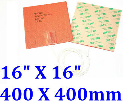 400mm X 400mm 24V 200W NO 3M backing 1PC New Silicone Flexible Pad Heater